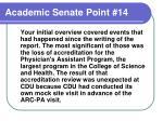 academic senate point 14