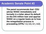 academic senate point 2