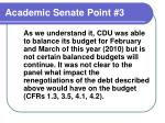 academic senate point 3