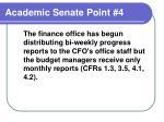academic senate point 4