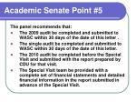 academic senate point 5