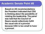 academic senate point 8