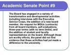 academic senate point 9