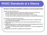 wasc standards at a glance8