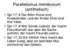 parallelismus membrorum antithetisch
