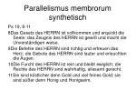 parallelismus membrorum synthetisch