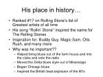 his place in history