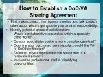 how to establish a dod va sharing agreement
