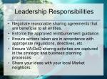 leadership responsibilities