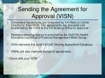 sending the agreement for approval visn