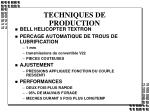 techniques de production