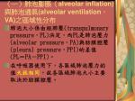 alveolar inflation alveolar ventilation va