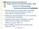 education for democratic and active citizenship