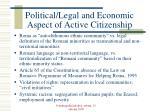 political legal and economic aspect of active citizenship
