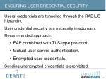 ensuring user credential security