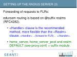 setting up the radius server 3