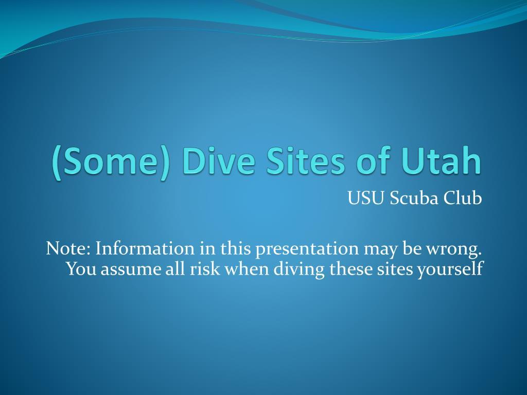 some dive sites of utah l.