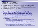 r d sectorial plan