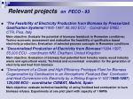 relevant projects on peco 93