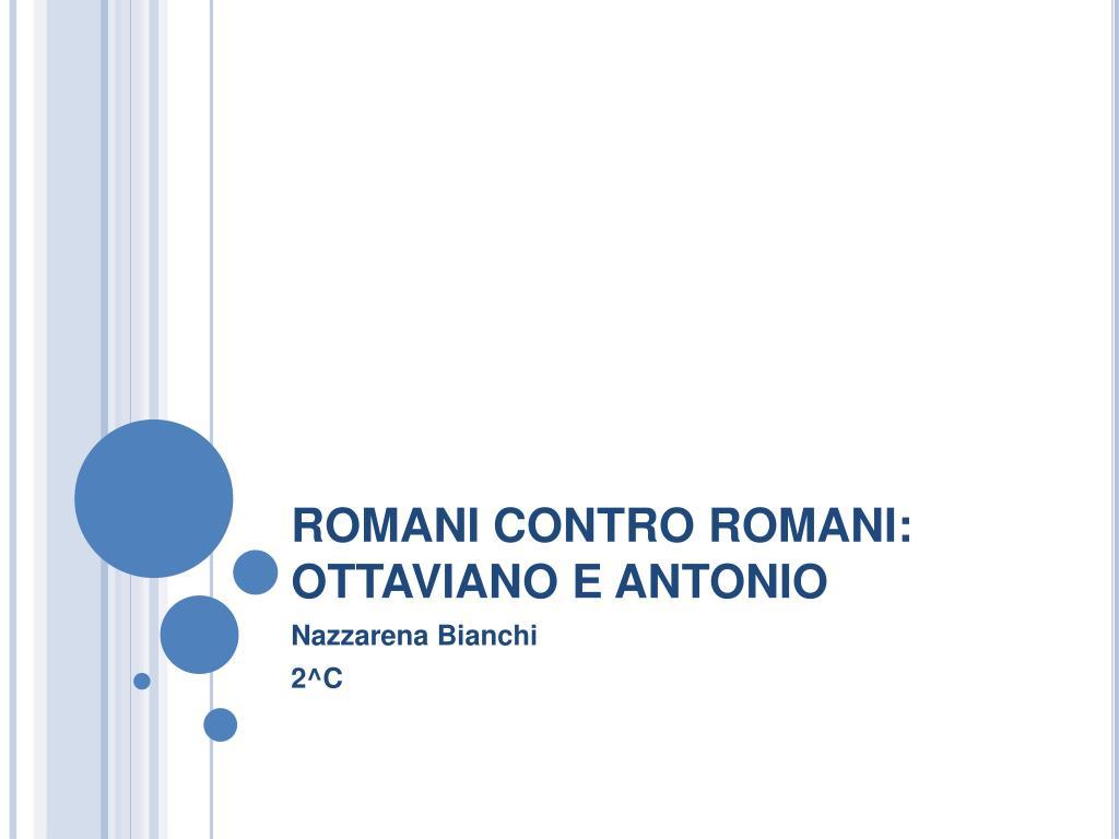 romani contro romani ottaviano e antonio l.
