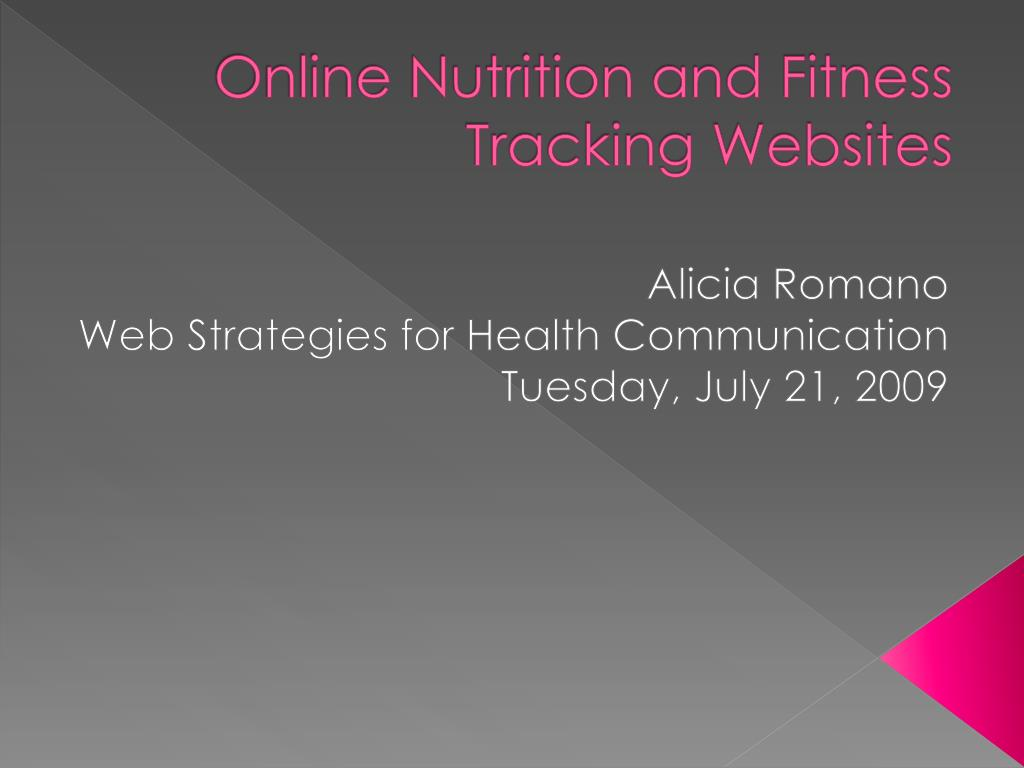 online nutrition and fitness tracking websites l.