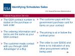 identifying schedules sales