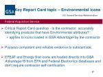 key report card topic environmental icons