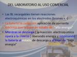 del laboratorio al uso comercial