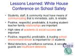 lessons learned white house conference on school safety
