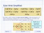 euler wrist simplified