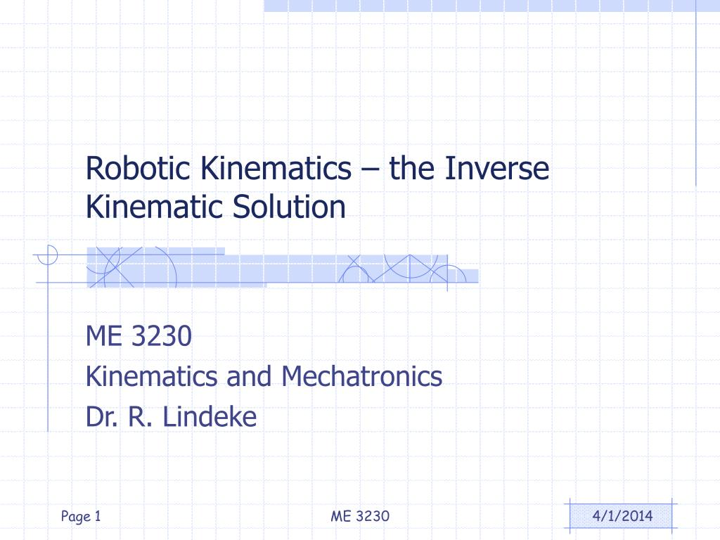 robotic kinematics the inverse kinematic solution l.