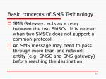 basic concepts of sms technology11