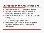 introduction to sms messaging