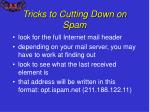 tricks to cutting down on spam