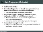 state environmental policy act