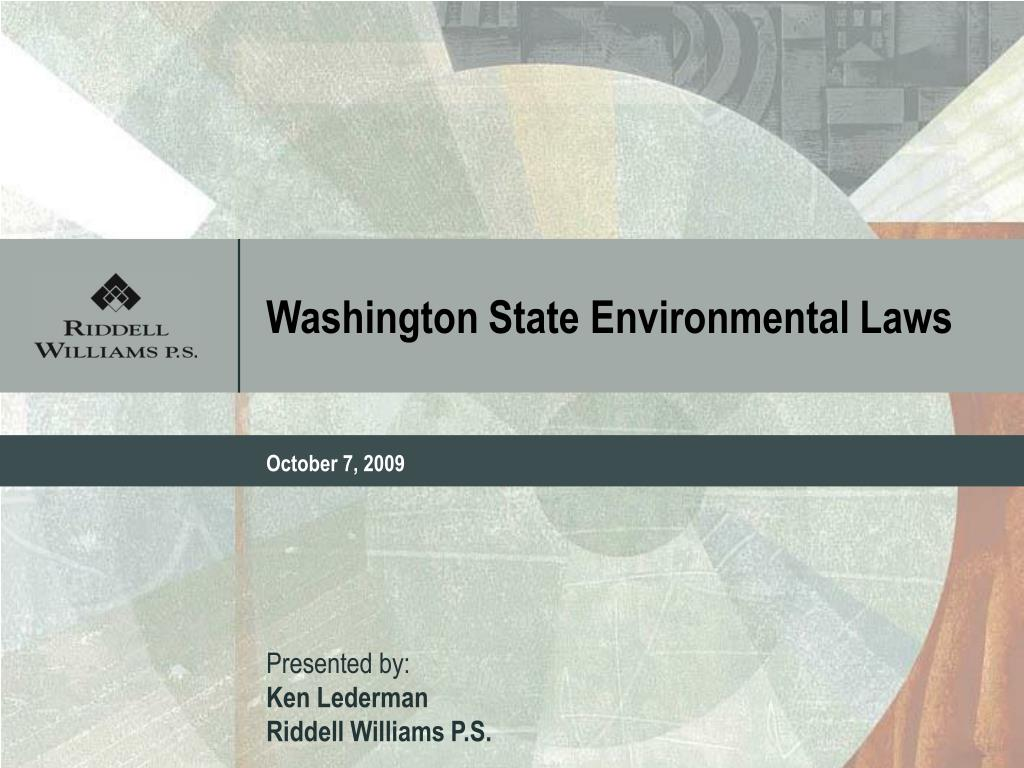 washington state environmental laws l.
