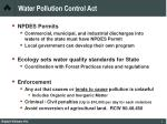 water pollution control act8