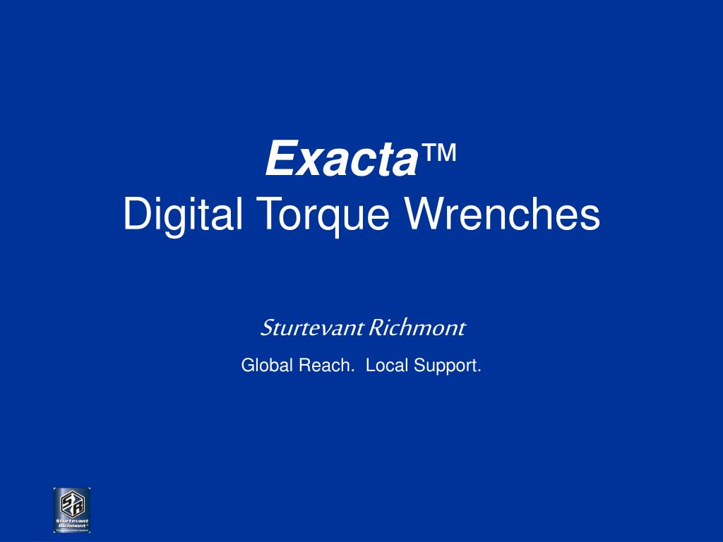 exacta digital torque wrenches l.