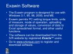 exawin software
