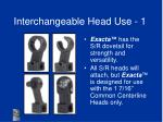 interchangeable head use 1
