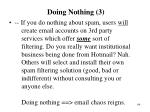 doing nothing 3
