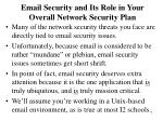 email security and its role in your overall network security plan