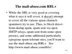 the mail abuse com rbl