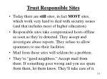 trust responsible sites