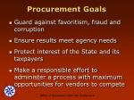 procurement goals