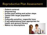 reproductive plan assessment1