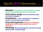 specific rlp interventions cont2