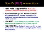 specific rlp interventions