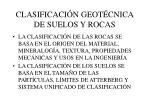 clasificaci n geot cnica de suelos y rocas