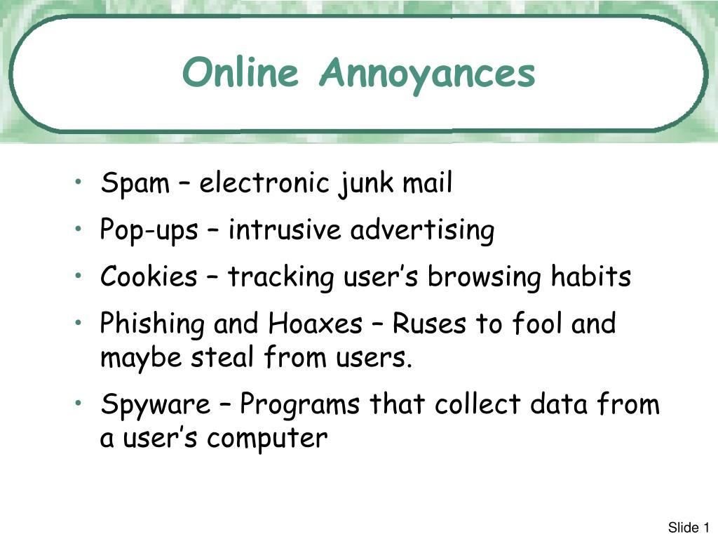 online annoyances l.